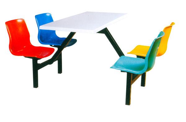 四人位靠背连体快餐桌J-CZ004.jpg